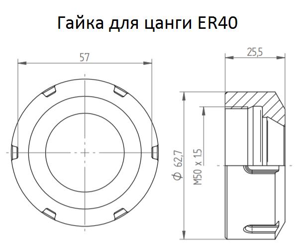 Гайка для цанги ER40